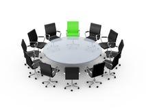 Tabela de conferência com liderança Fotografia de Stock Royalty Free