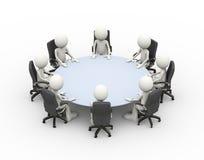 tabela de conferência da reunião de negócios dos povos 3d ilustração royalty free
