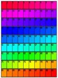 Tabela de cor com números ilustração do vetor