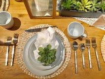 Tabela de Dinning Imagens de Stock