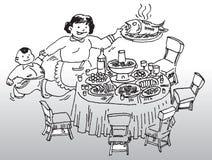 Tabela de jantar ilustração do vetor
