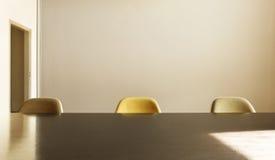 Tabela de jantar com três cadeiras Imagens de Stock Royalty Free