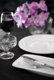 Tabela de jantar da recepção Fotos de Stock Royalty Free