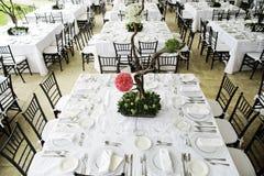 Tabela de jantar do casamento Fotografia de Stock Royalty Free