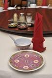 Tabela de jantar do estilo chinês Fotografia de Stock