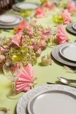 Tabela de jantar do Natal nas cores pastel Fotografia de Stock