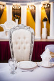 Tabela de jantar elegante Fotografia de Stock Royalty Free