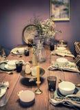 Tabela de jantar home Foto de Stock