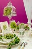 Tabela de jantar Luxuriously coberta Foto de Stock