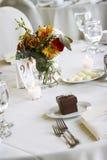Tabela de jantar Wedding imagem de stock