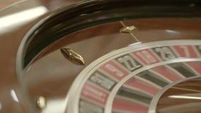 Tabela de jogo da roleta no casino vídeos de arquivo