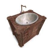 Tabela de lavagem antiquado Fotografia de Stock
