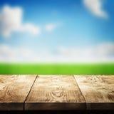 Tabela de madeira fotografia de stock royalty free