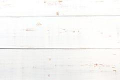 Tabela de madeira branca do vintage foto de stock royalty free