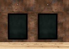 Tabela de madeira da prancha para o produto gráfico do suporte, o design de interiores ou a exposição da montagem seu produto com ilustração stock