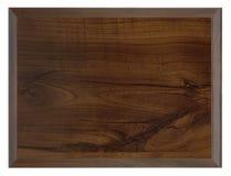 Tabela de madeira escura isolada no branco Fotos de Stock