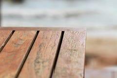 Tabela de madeira marrom vazia da textura para o restaurante, Web site, placa da carta da propaganda da moldura para retrato Imagens de Stock