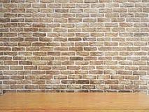 Tabela de madeira vazia Imagens de Stock Royalty Free