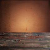 Tabela de madeira vazia Foto de Stock
