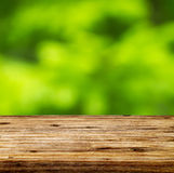 Tabela de madeira vazia Imagem de Stock