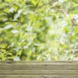 Tabela de madeira vazia da plataforma Imagem de Stock Royalty Free