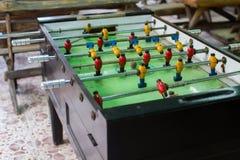 Tabela de madeira velha do futebol Imagens de Stock Royalty Free