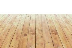 Tabela de madeira velha no fundo branco Imagem de Stock