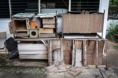 Tabela de madeira Waste Imagens de Stock