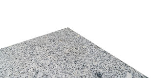Tabela de pedra de mármore isolada no branco imagens de stock