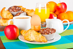 Tabela de pequeno almoço Fotografia de Stock Royalty Free