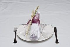 Tabela decorada a comer. Imagens de Stock Royalty Free