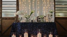 Tabela decorada para o evento do casamento video estoque