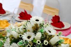 tabela dekoracji ślub Obraz Stock