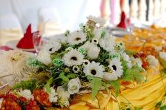 tabela dekoracji ślub Obrazy Stock