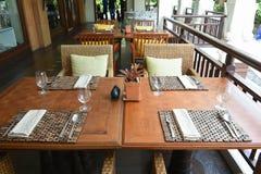 A tabela dinning fotografia de stock