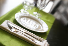 Tabela do Banquette Imagens de Stock