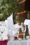 Tabela do casamento Fotos de Stock Royalty Free