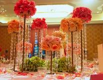Tabela do casamento Fotografia de Stock