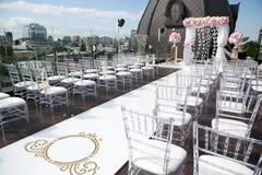 Tabela do casamento Fotografia de Stock Royalty Free