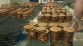 Tabela do dinheiro centavos, richtig getan fotos de stock