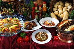Tabela do gourmet Imagens de Stock