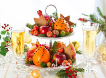 Tabela do Natal imagens de stock royalty free