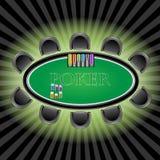 Tabela do póquer Imagem de Stock