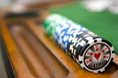 Tabela do póquer Foto de Stock Royalty Free