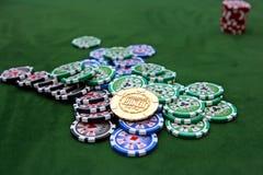 Tabela do póquer Fotos de Stock Royalty Free