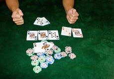 Tabela do póquer Imagens de Stock Royalty Free