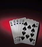 Tabela do póquer com resplendor real Imagens de Stock