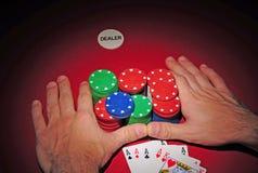 Tabela do póquer. Tudo dentro com quatro de um tipo. Fotos de Stock Royalty Free