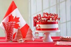 Tabela do partido da celebração do feriado nacional do dia de Canadá Fotos de Stock