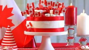Tabela do partido da celebração do feriado nacional do dia de Canadá Foto de Stock